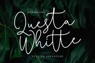 free font - Questa Whitte