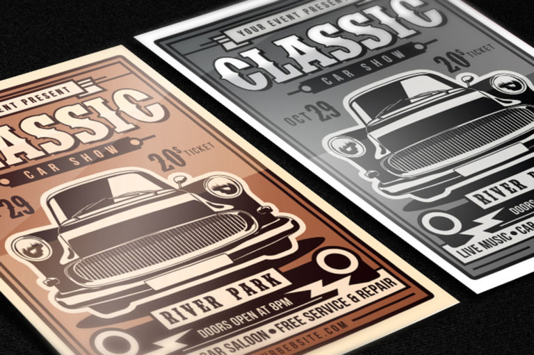 Classic Car Show Flyer - 2201 -