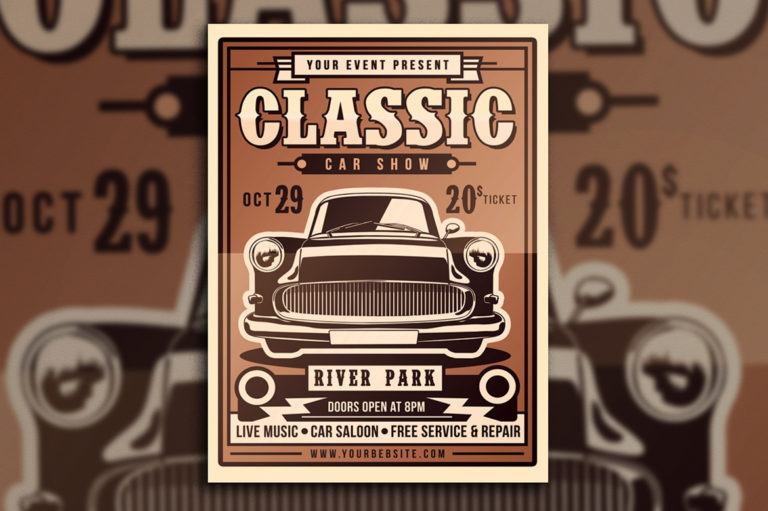Classic Car Show Flyer - 3196 -