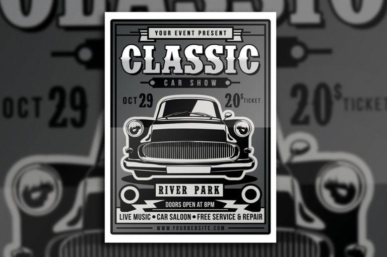 Classic Car Show Flyer - 4178 -
