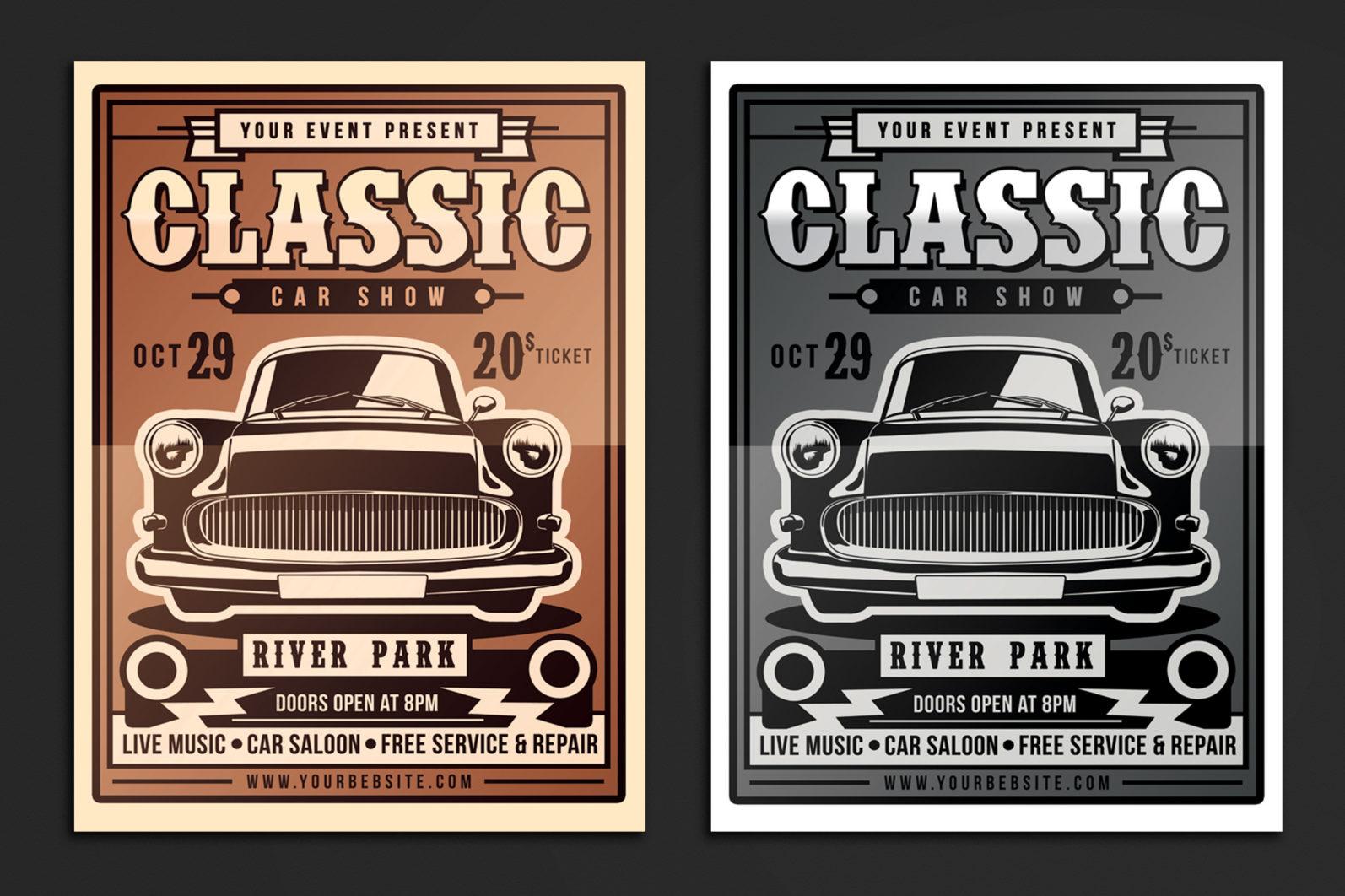 Classic Car Show Flyer - 5159 -