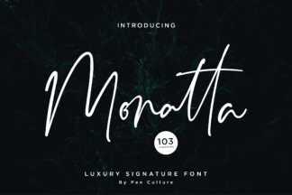 Font Deals - Powerful Script & Calligraphy Fonts for just $1 - Monatta Preview 1 -