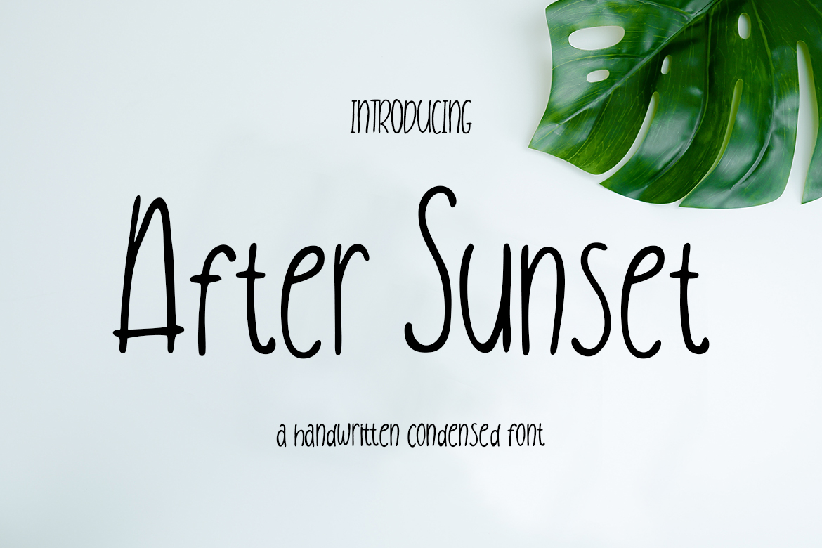 free font - After Sunset Handwritten Condensed