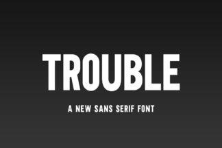 free font - Trouble Font