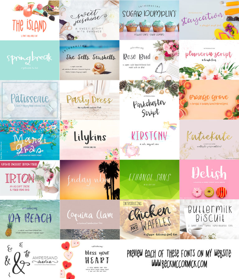 The Crafters Font Bundle - etsy second image -
