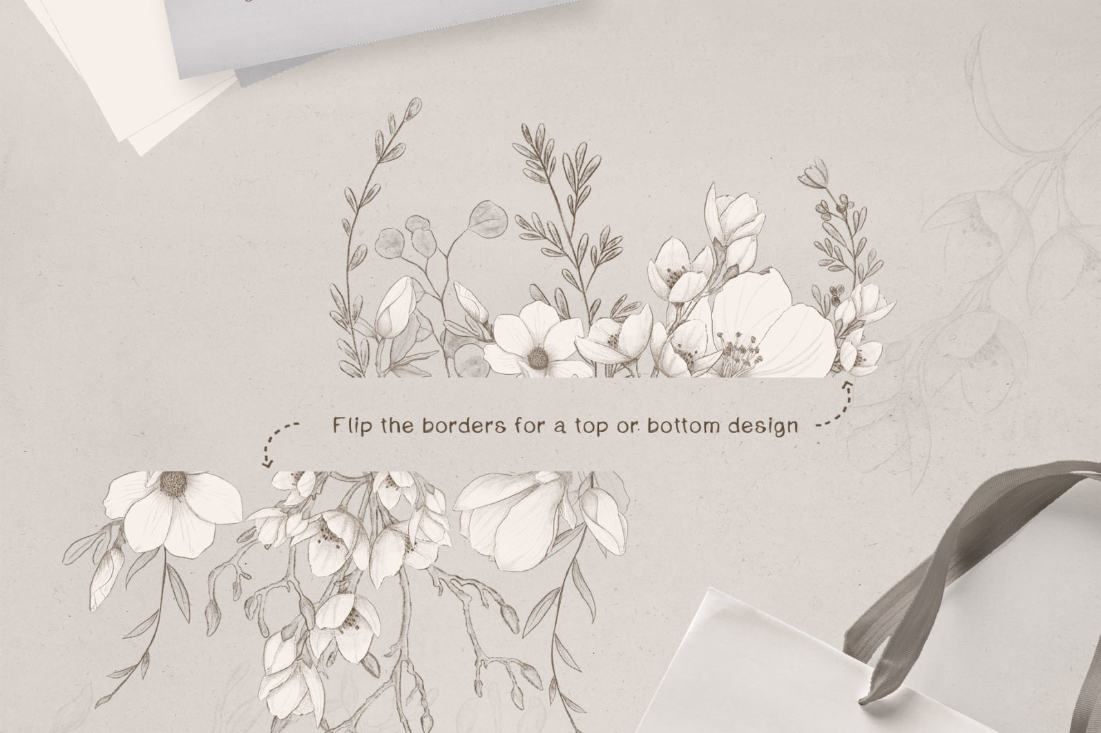 Sketchy Floral Wreaths & Borders - sketchy borders page -