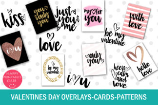 Crella Subscription - VALENTINES DAY TEXT OVERLAYS CARDS PATTERNS COVER -