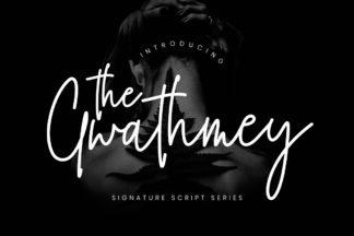 free font - The Gwathmey Signature Script