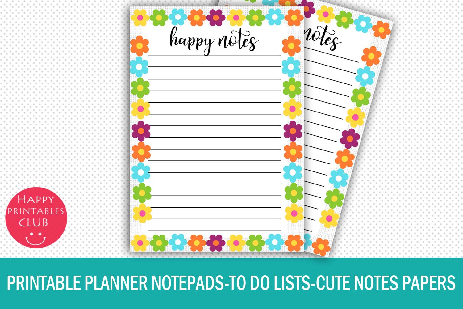 photo regarding Printable Note Papers named Printable Planner Notepads- Lovely Notes Papers