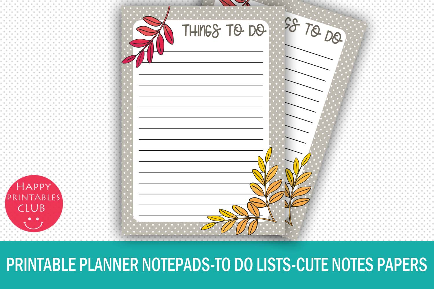 image regarding Printable Notepads named Printable Planner Notepads-Towards Do Lists-Notes Papers-Sheets