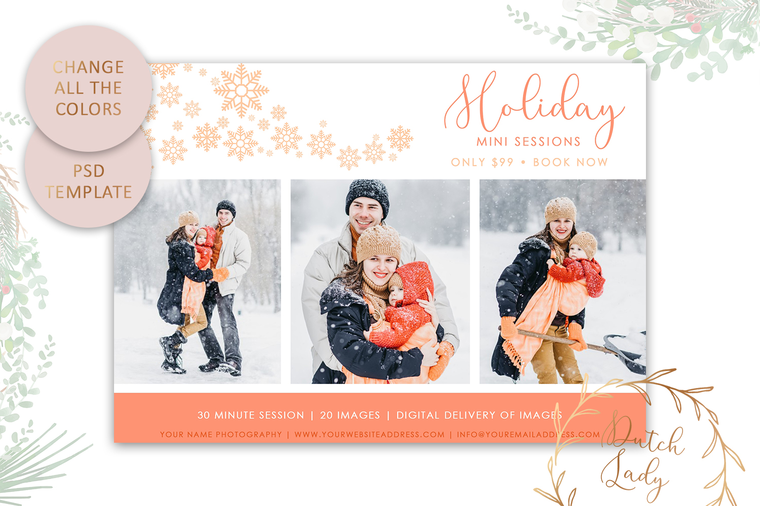 Photography Mini Session Advertising Card - Christmas ...