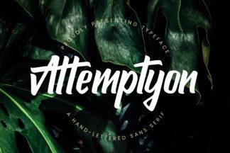 free font - Attemptyon Display Font