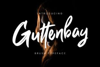 free font - Guttenbay Brush Typeface