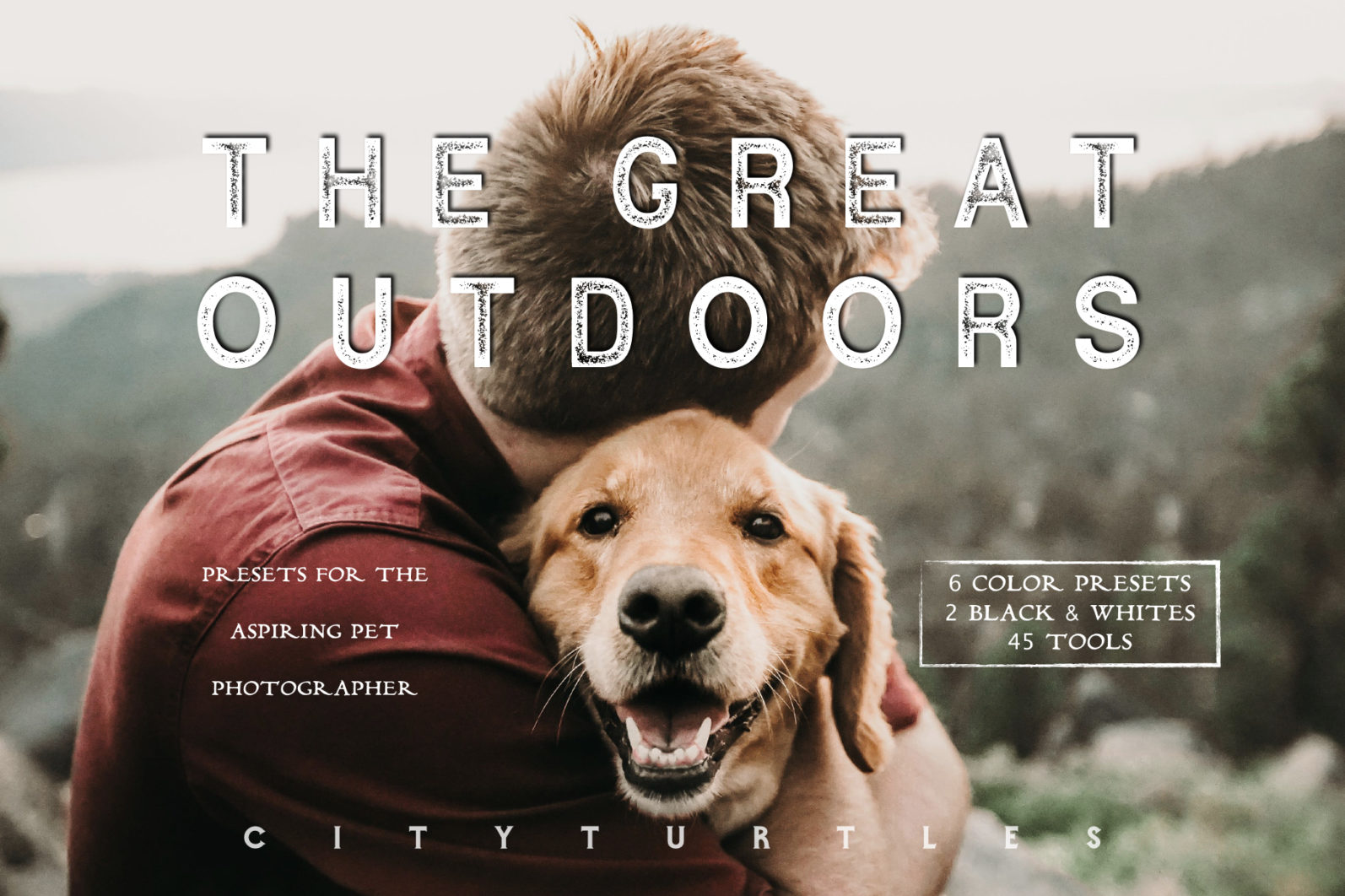 Moody Pet Photography Kit THE GREAT OUTDOORS Lightroom Presets for Desktop & Mobile - great outdoors pet presets 1 -