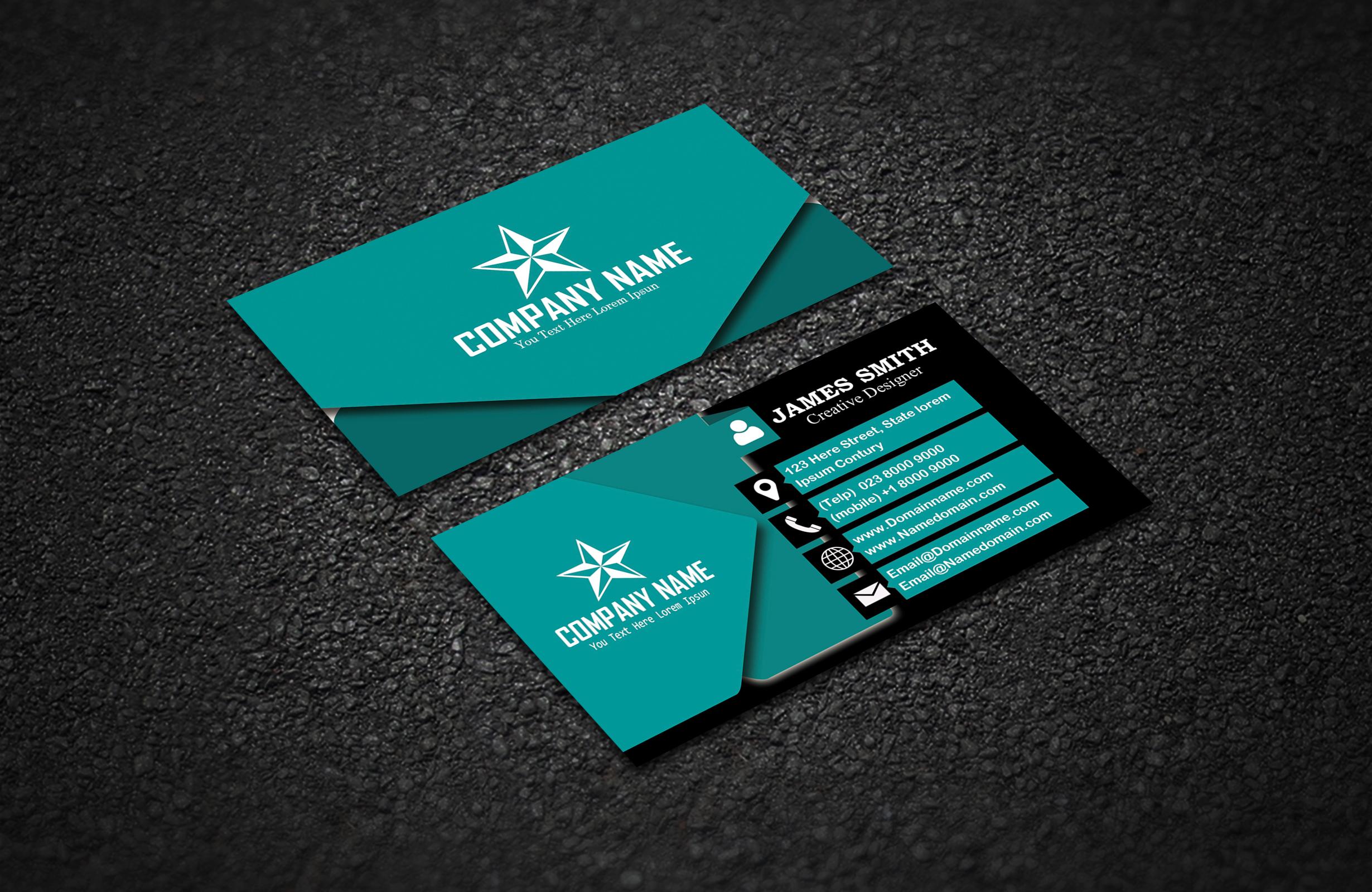 modern business card  crella