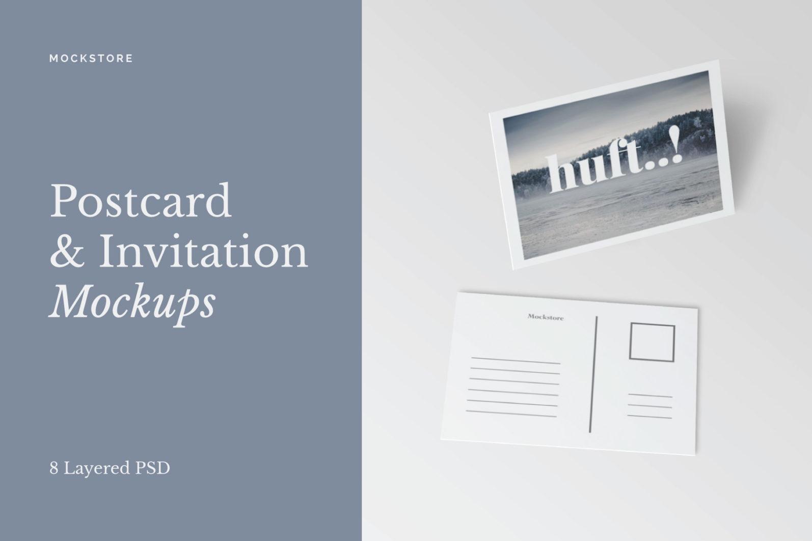 Postcard & Invitation Mockups - Postcard Invitation Mockups cover -