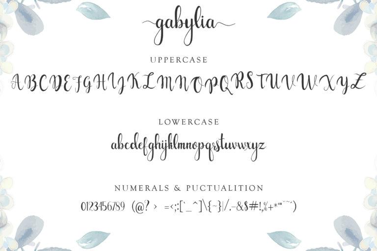 gabylia script font - 1170 -