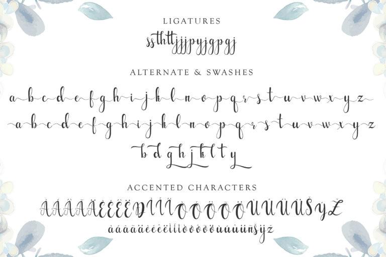 gabylia script font - 1219 -