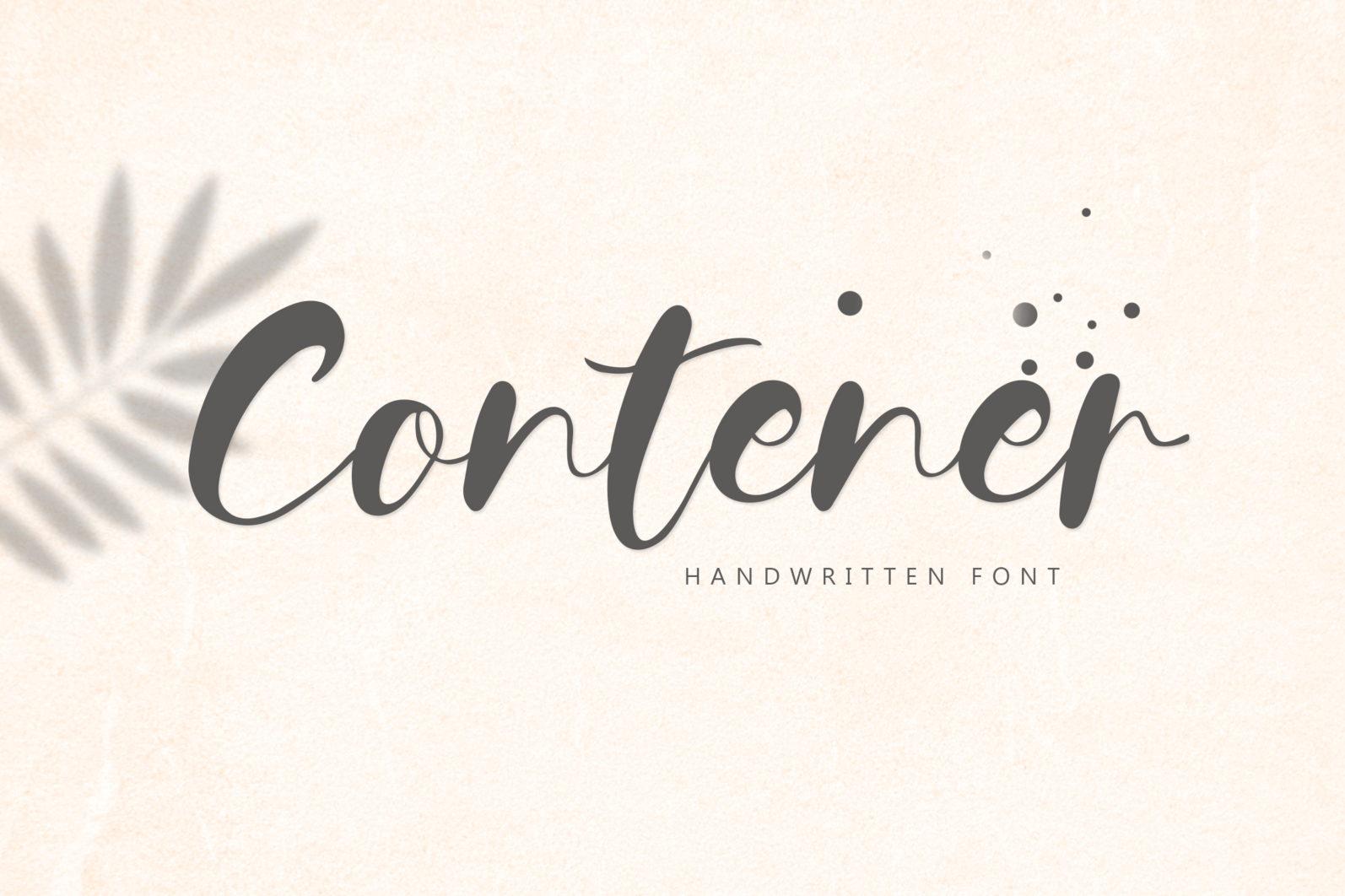 Contener Handwritting font - 1186 -