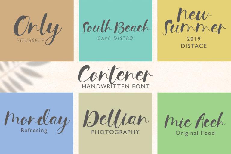 Contener Handwritting font - 591 -