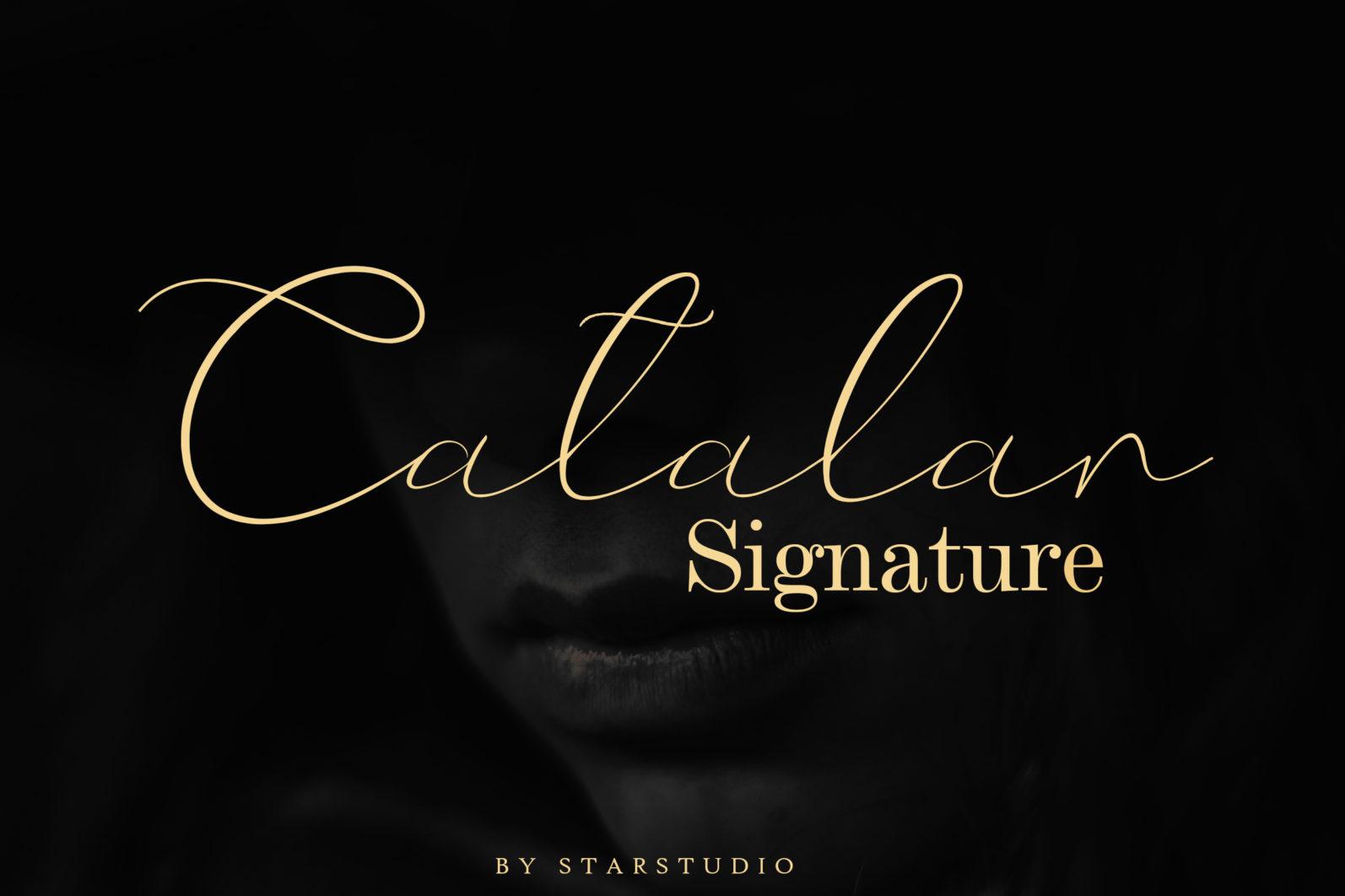 Catalan Signature font - 1188 -