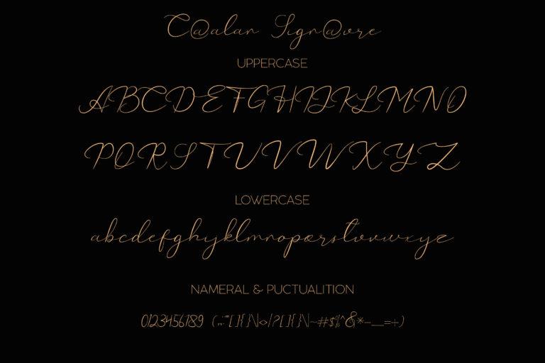 Catalan Signature font - 1031 -