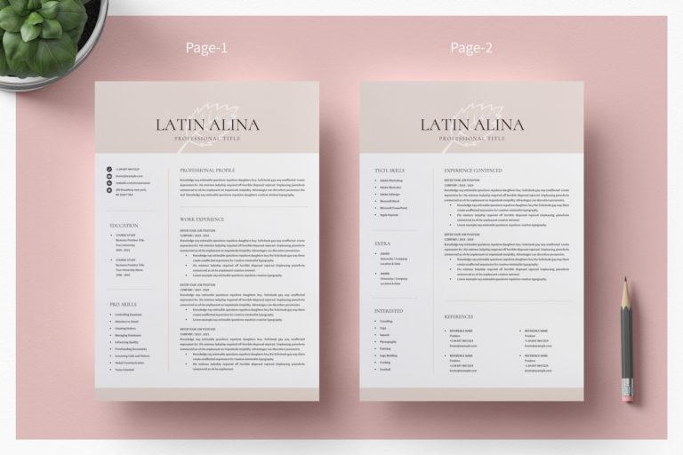 Minimal Professional Resume Template Word - 02 Resume Template1 -