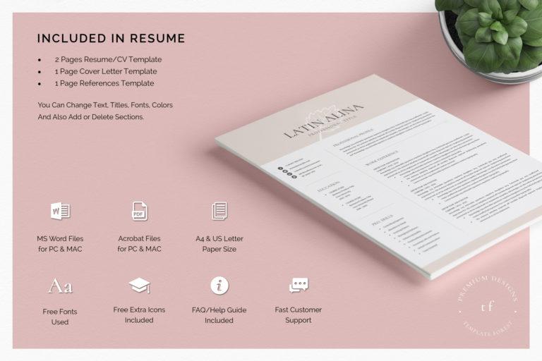 Minimal Professional Resume Template Word - 04 Resume Template1 -