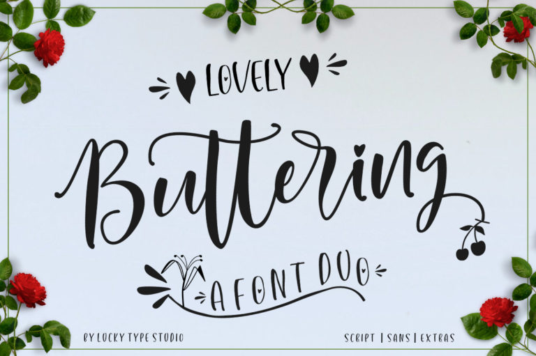 Lovely Buttering-Font Duo - 15 -