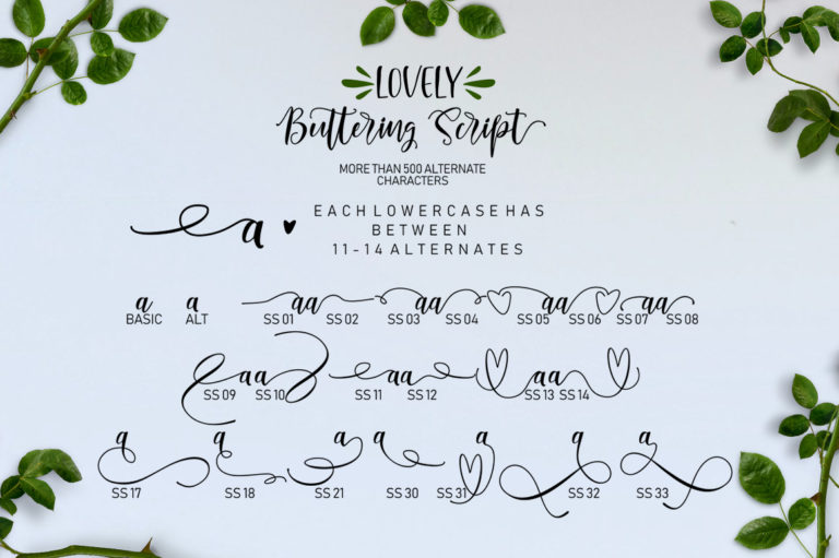 Lovely Buttering-Font Duo - 63 -