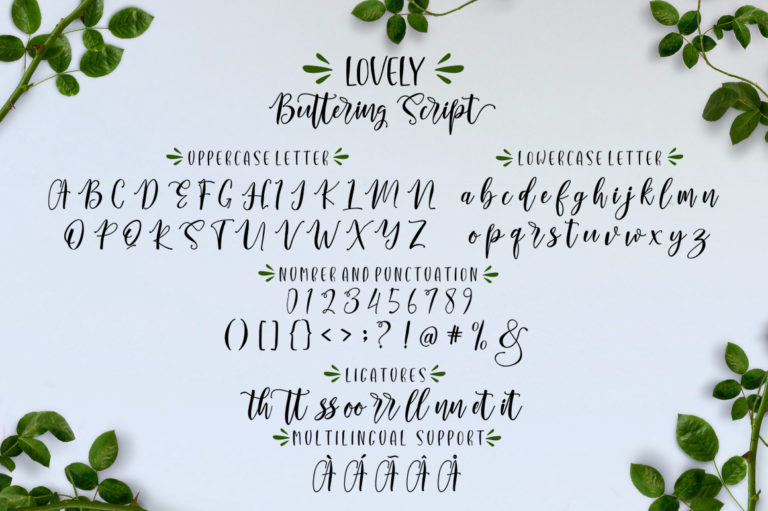 Lovely Buttering-Font Duo - 82 -