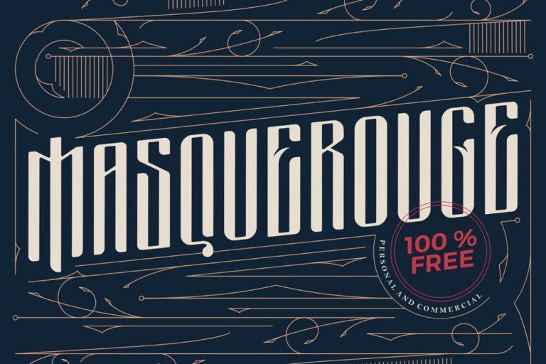 Free Masquerouge Victorian Display Font - masquerouge 1 -