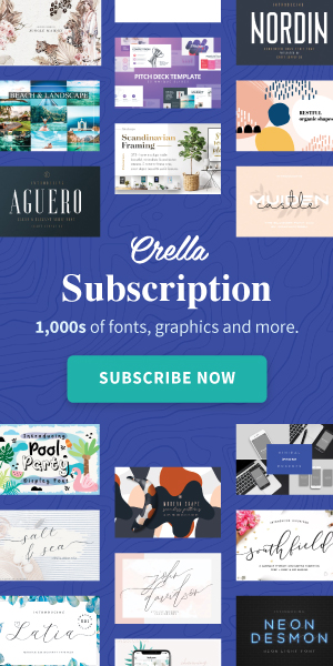 Crella Subscription - 1,000s of fonts, graphics and more