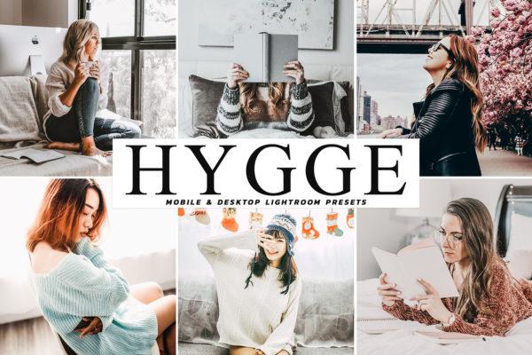 "<span style=""display: none"">Marketplace for Fonts, SVG files, Lightroom Presets and more</span> - Hygge Mobile Desktop Lightroom Presets Cover -"