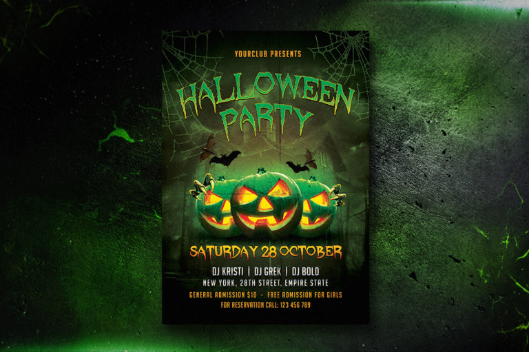 HALLOWEEN PARTY FLYER 1 - Preview Image 2 Halloween Party Flyer 1 -