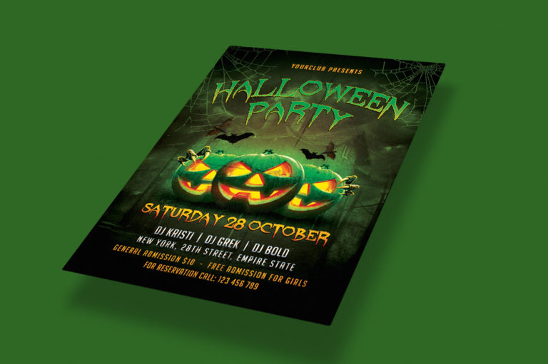 HALLOWEEN PARTY FLYER 1 - Preview Image 3 Halloween Party Flyer 1 Set -