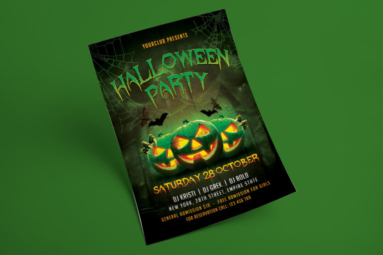 HALLOWEEN PARTY FLYER 1 - Preview Image 4 Halloween Party Flyer 1 Set -
