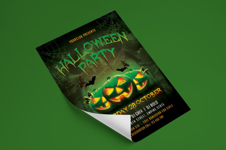 HALLOWEEN PARTY FLYER 1 - Preview Image 5 Halloween Party Flyer 1 Set -