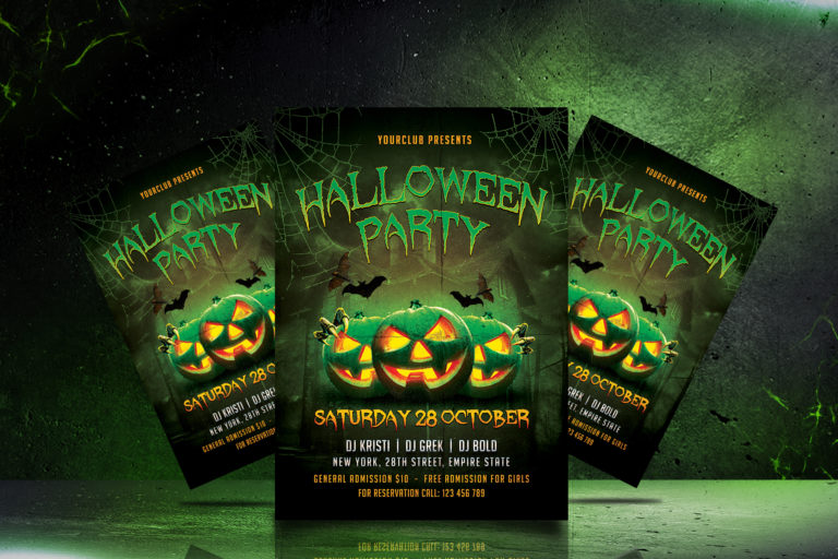 HALLOWEEN PARTY FLYER 1 - Preview Image 6 Halloween Party Flyer 1 Set -
