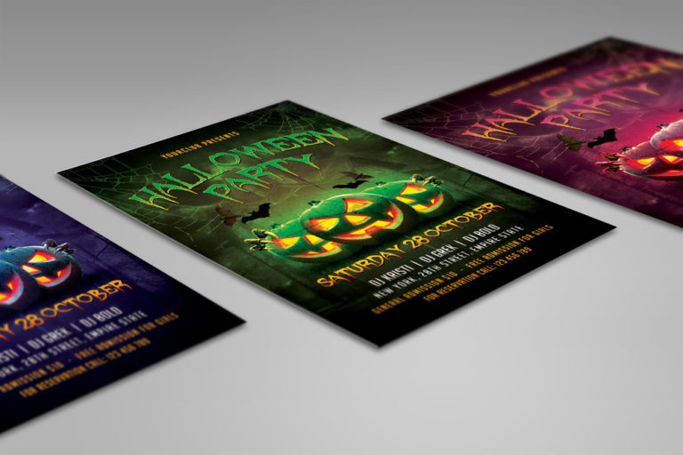 HALLOWEEN PARTY FLYER 1 - Preview Image 8 Halloween Party Flyer 1 Set -