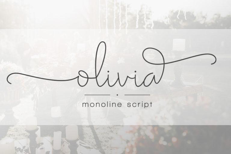 Olivia - Elegant Monoline Script - Artboard 17 -