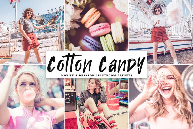 Cotton Candy Mobile & Desktop Lightroom Presets - Cotton Candy Mobile Desktop Lightroom Presets Cover -