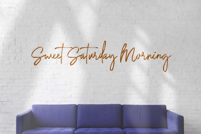 Saturday Lovin Font Collection - VIEW F -