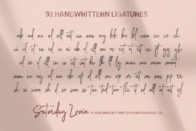 Saturday Lovin Font Collection - VIEW L -