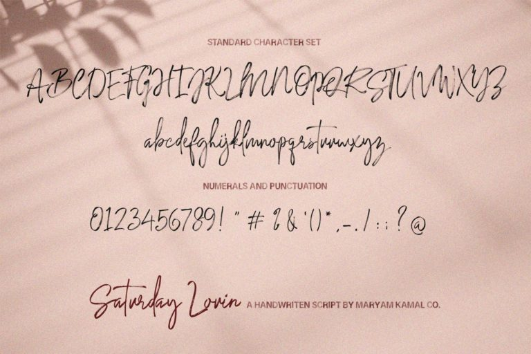 Saturday Lovin Font Collection - VIEW M -