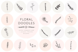 All Freebies - floral doodles part 3 -