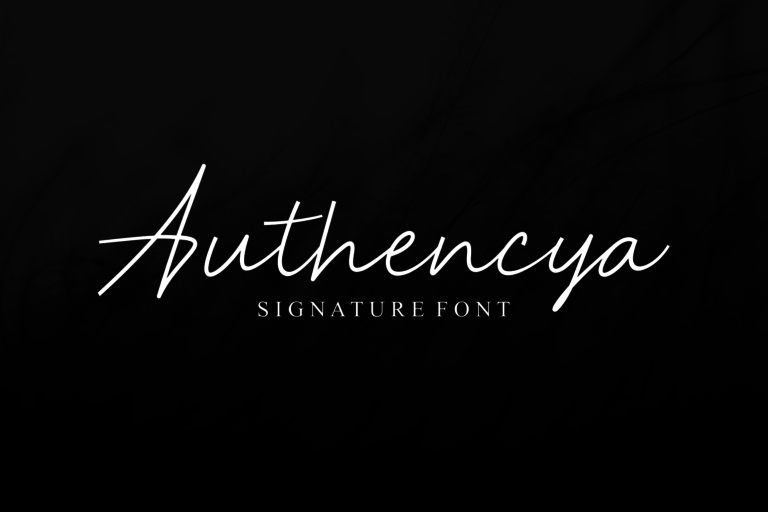 Authencya   Signature Font - 121 -