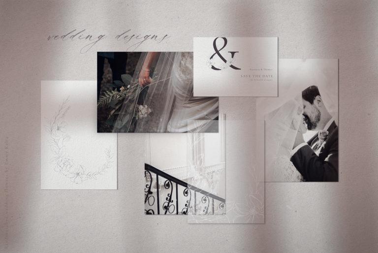 Wedding Flower Pencil Illustrations, Floral Alphabet - 2WeddingFlowers Moodboard -