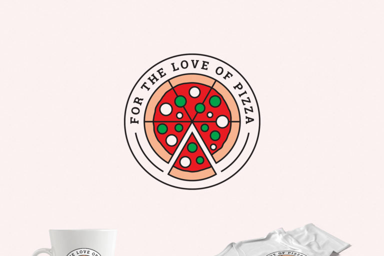 For the Love of Pizza Logo Template - preview love of pizza featured -