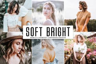 $1 Lightroom Preset Deals - Soft Bright Mobile Desktop Lightroom Presets Cover 1 -